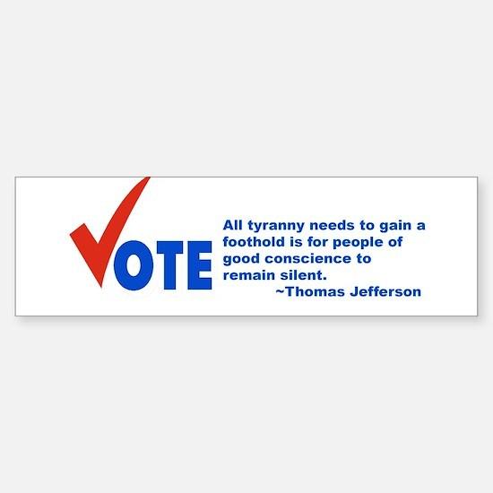 Vote! Bumper Car Car Sticker
