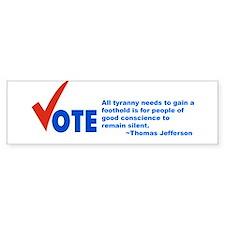 Vote! Bumper Car Sticker