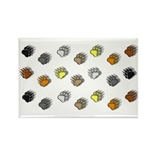 BEAR PRIDE BEAR PAWS/3 ROWS Rectangle Magnet