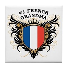 Number One French Grandma Tile Coaster