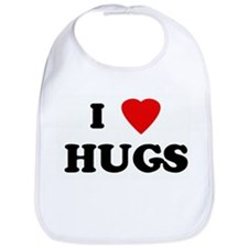 I Love HUGS Bib