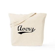 Vintage Avery (Black) Tote Bag