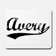 Vintage Avery (Black) Mousepad