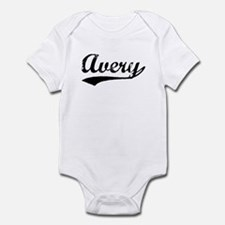 Vintage Avery (Black) Infant Bodysuit