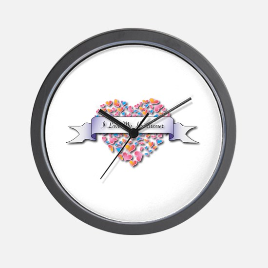 Love My Hairdresser Wall Clock