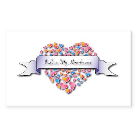 Love My Hairdresser Rectangle Sticker