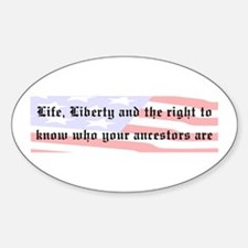 Genealogists Rights Oval Decal
