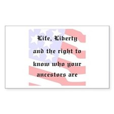 Genealogists Rights Rectangle Bumper Stickers