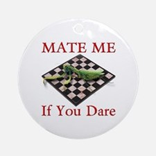 Mate Me Chess Ornament (Round)