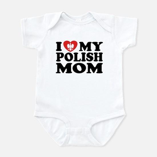 I Love My Polish Mom Infant Bodysuit