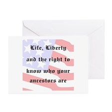 Genealogists Rights Greeting Cards (Pk of 10)