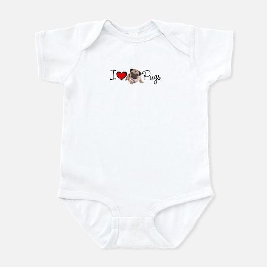 I Love Pugs Infant Bodysuit