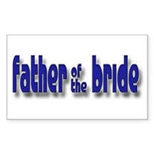 Father of the Bride Casual #1 Sticker (Rectangular