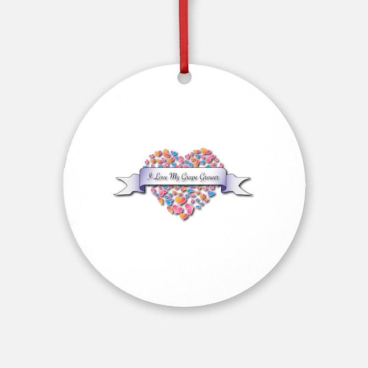 Love My Grape Grower Ornament (Round)