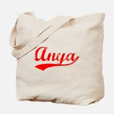 Vintage Anya (Red) Tote Bag