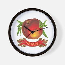 Peachy White Wall Clock