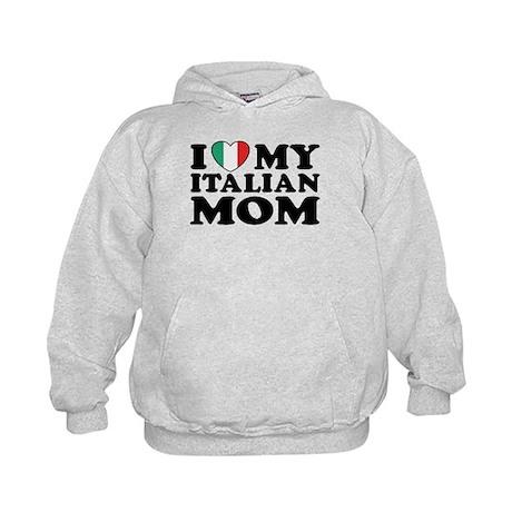 I Love My Italian Mom Kids Hoodie