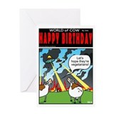 World of cow Greeting Cards