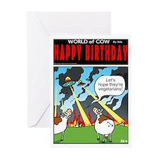 Veggie Aliens? Greeting Card