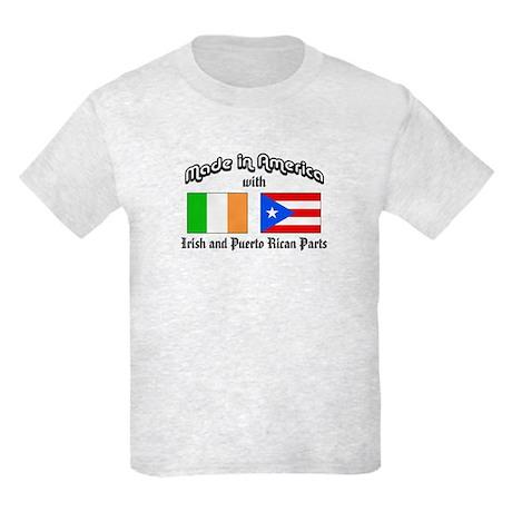 Irish-Puerto Rican Kids Light T-Shirt