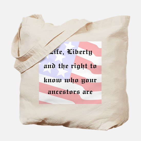 Genealogists Rights Tote Bag