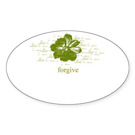 forgive Oval Sticker