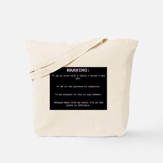 WARNING...Ethiopia Tote Bag