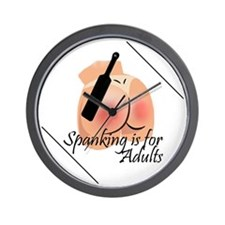 Spanking is for Adults Wall Clock
