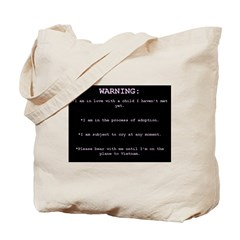 WARNING...Vietnam Tote Bag