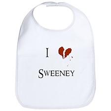 I heart Sweeney Bib