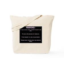 WARNING...General Adoption Tote Bag