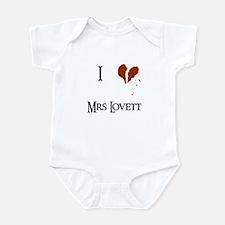 I heart Mrs. Lovett Infant Bodysuit