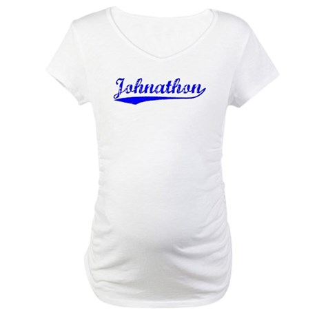 Vintage Johnathon (Blue) Maternity T-Shirt