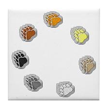 BEAR PRIDE BEAR PAWS/CIRCLE Tile Coaster