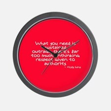 Sustained Outrage ~ Molly Ivi Wall Clock