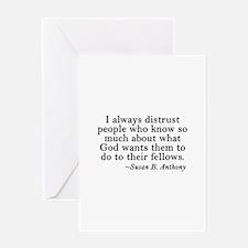 Distrusting Your God Greeting Card