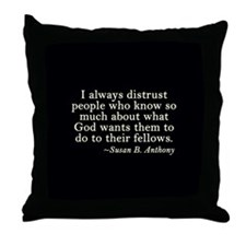 Distrusting Your God Throw Pillow