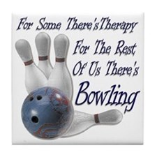 Bowling Therapy Tile Coaster