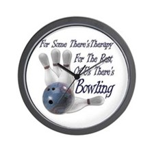Bowling Therapy Wall Clock
