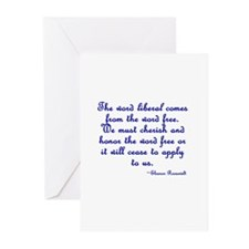 The Word Liberal Greeting Cards (Pk of 20)