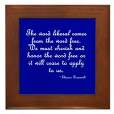 The Word Liberal Framed Tile