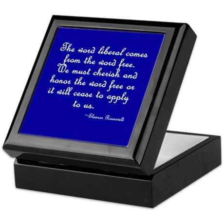 The Word Liberal Keepsake Box