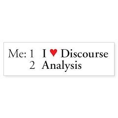 I Love Discourse Analysis Line Num. Bumper Bumper Sticker