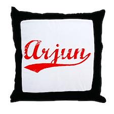 Vintage Arjun (Red) Throw Pillow