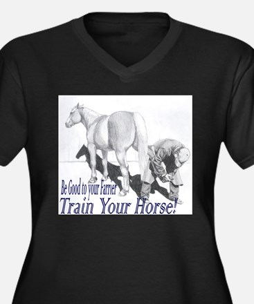 Be good to your Farrier Women's Plus Size V-Neck D