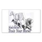 Be good to your Farrier Rectangle Sticker