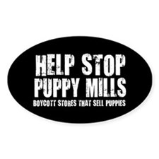 Puppy Mills Oval Decal