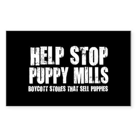 Puppy Mills Rectangle Sticker