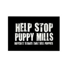 Puppy Mills Rectangle Magnet