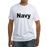 Navy (Front) Fitted T-Shirt